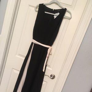 NWT Strut and Bolt Long Black Dress Size: Lg